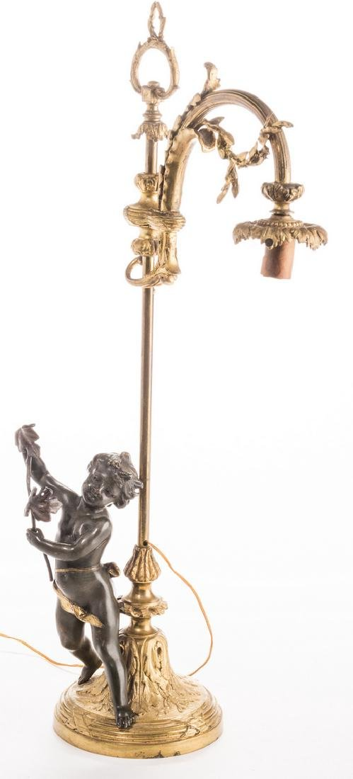 French Neoclassical Bronze Lamp - 6