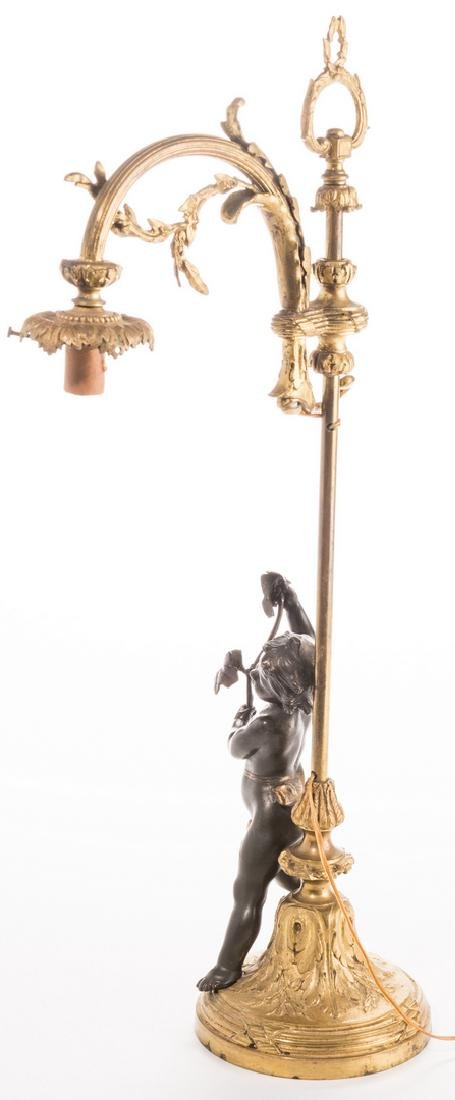 French Neoclassical Bronze Lamp - 7