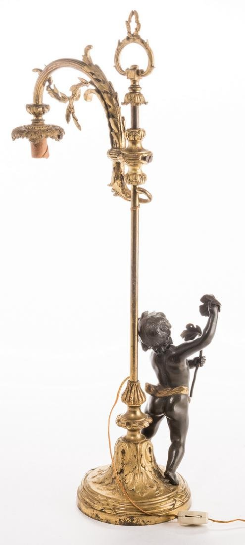French Neoclassical Bronze Lamp - 8