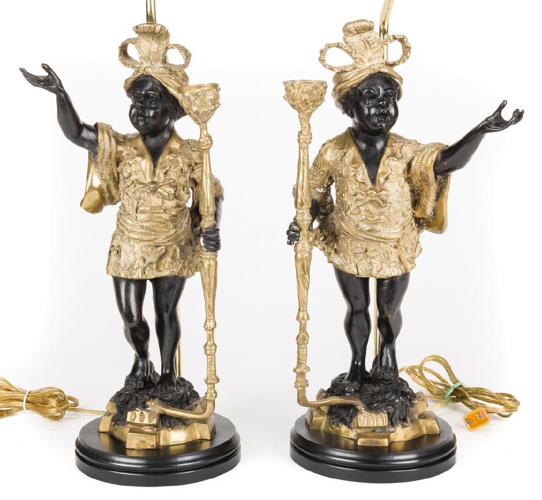 Pair Blackamoor Lamps - 2