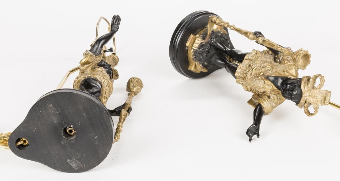 Pair Blackamoor Lamps - 6