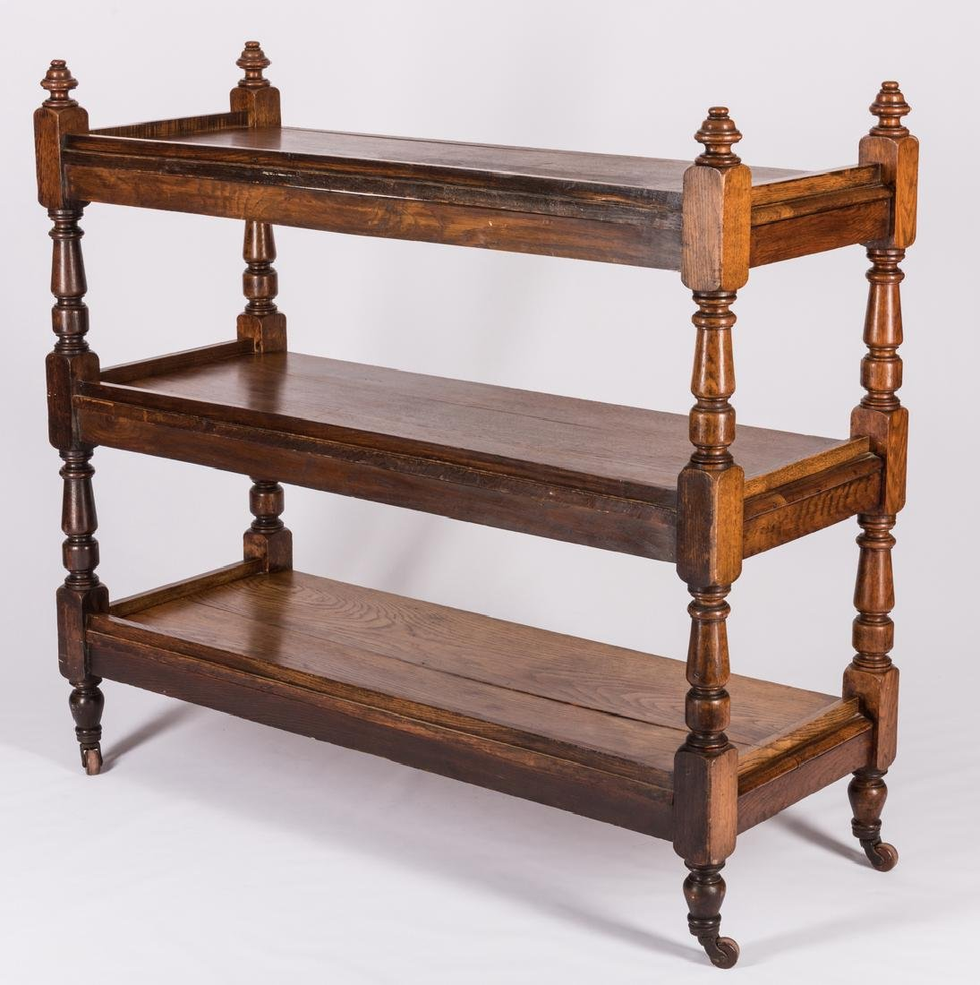 English Oak 3-Tiered Etagere, 19th c. - 4
