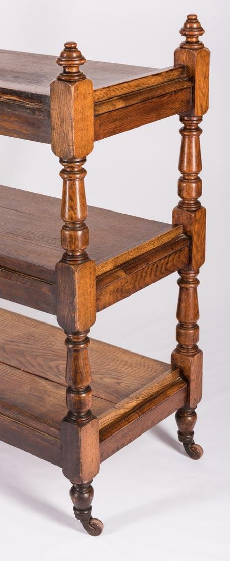 English Oak 3-Tiered Etagere, 19th c. - 5