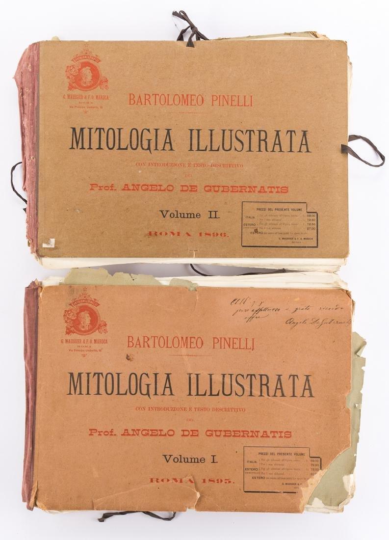 2 vols. Pinelli lithographs, 1896