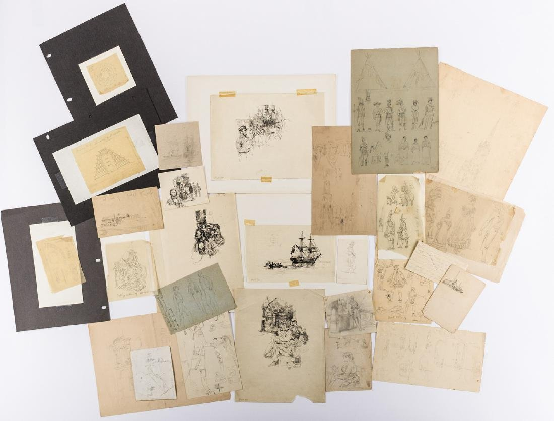 Archive of Alfred Waud Sketches and Notes, 50 plus