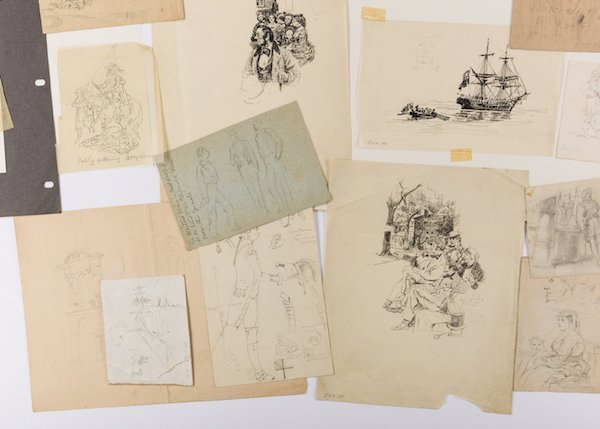 Archive of Alfred Waud Sketches and Notes, 50 plus - 5