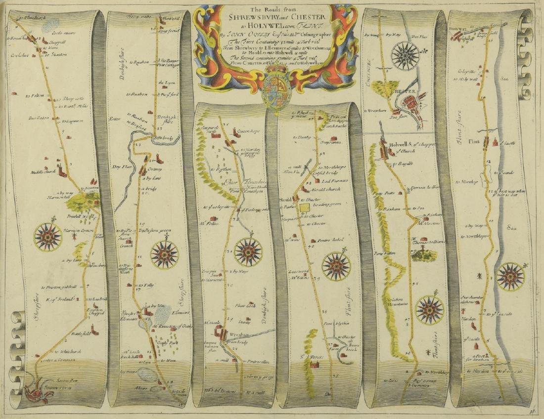 4 English Maps & Engravings - 2