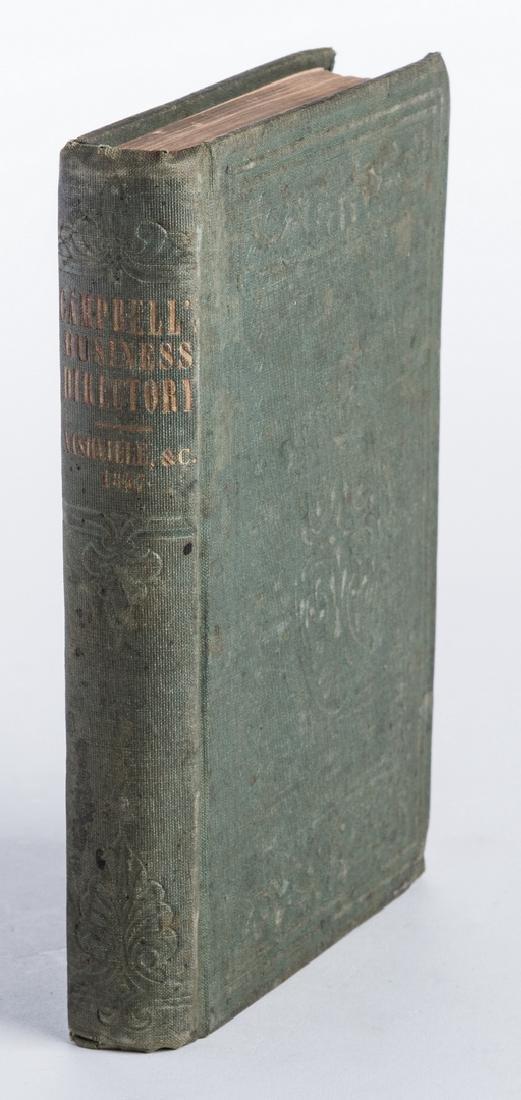 Nashville 1857 Business Directory