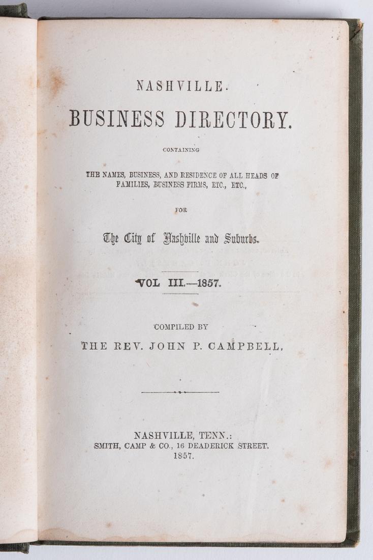 Nashville 1857 Business Directory - 3