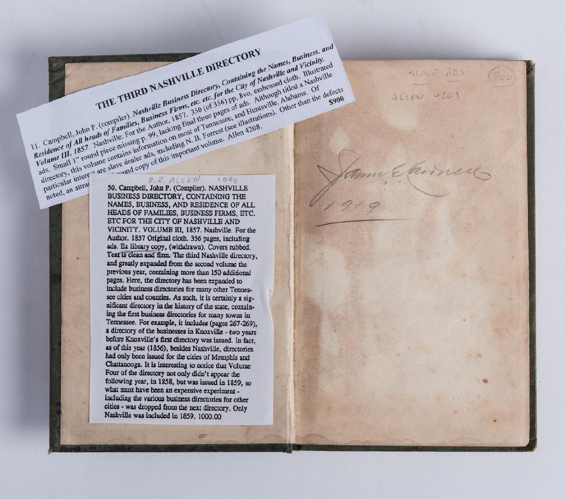 Nashville 1857 Business Directory - 7