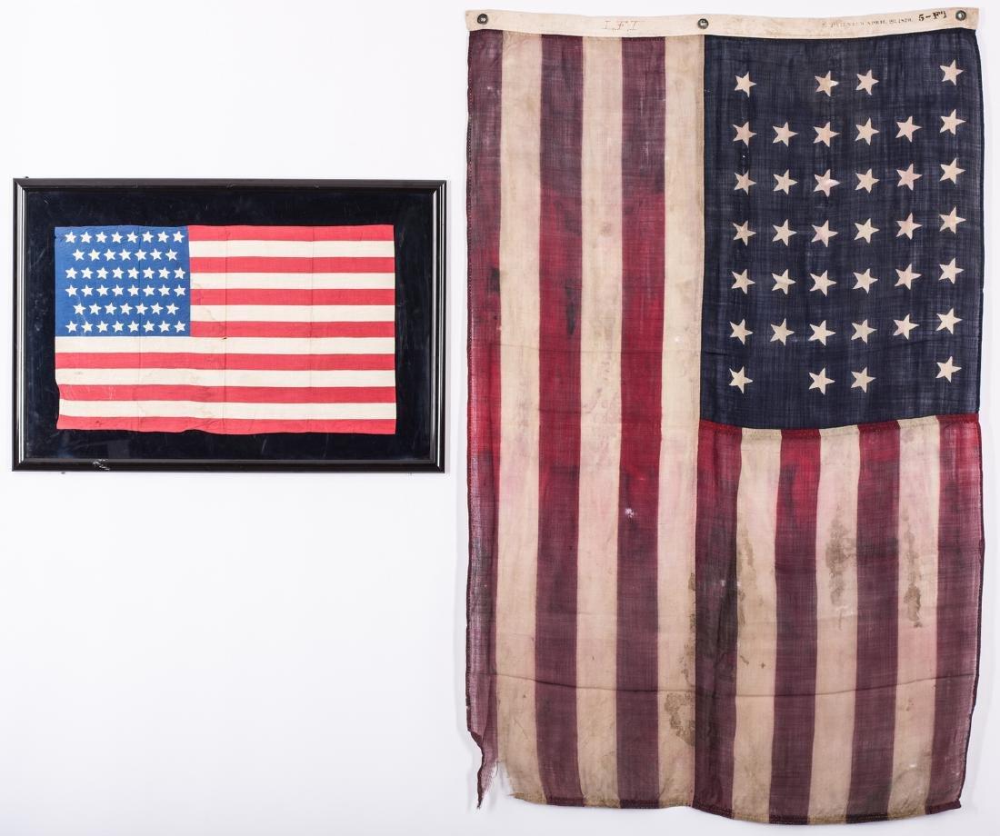 2 American Flags, 38 Star & 46 Star