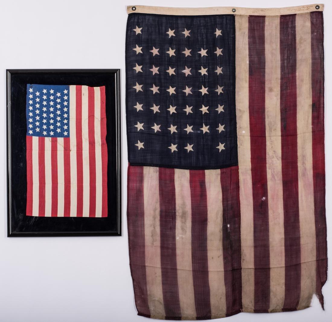 2 American Flags, 38 Star & 46 Star - 7