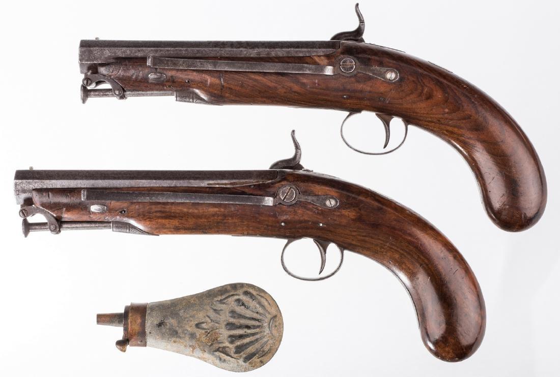 Pr 19th c. English/Scottish Belt Pistols - 2