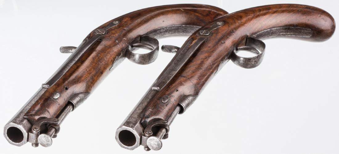 Pr 19th c. English/Scottish Belt Pistols - 3