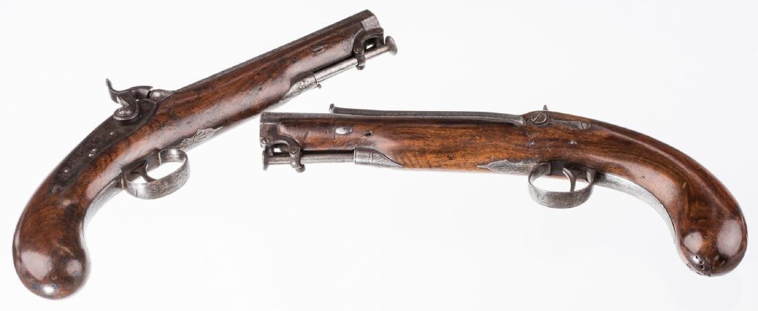 Pr 19th c. English/Scottish Belt Pistols - 4