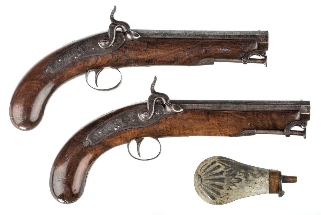 Pr 19th c. English/Scottish Belt Pistols - 9