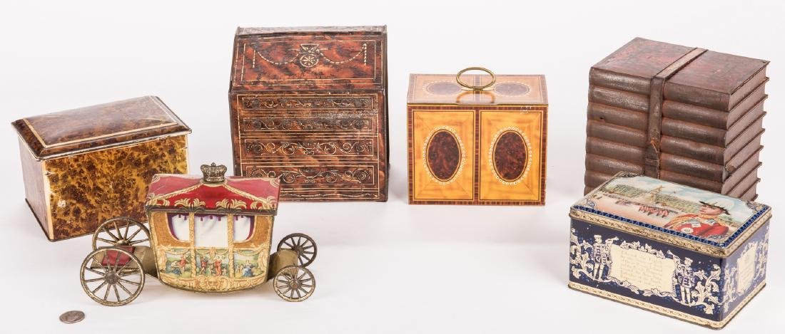 Collection of 6 English Biscuit Tins