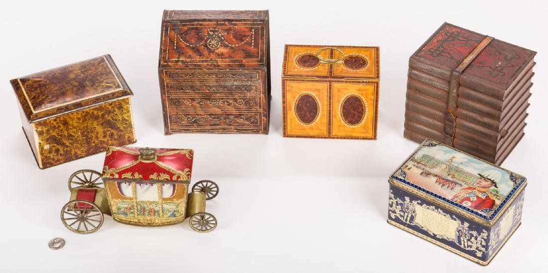 Collection of 6 English Biscuit Tins - 2