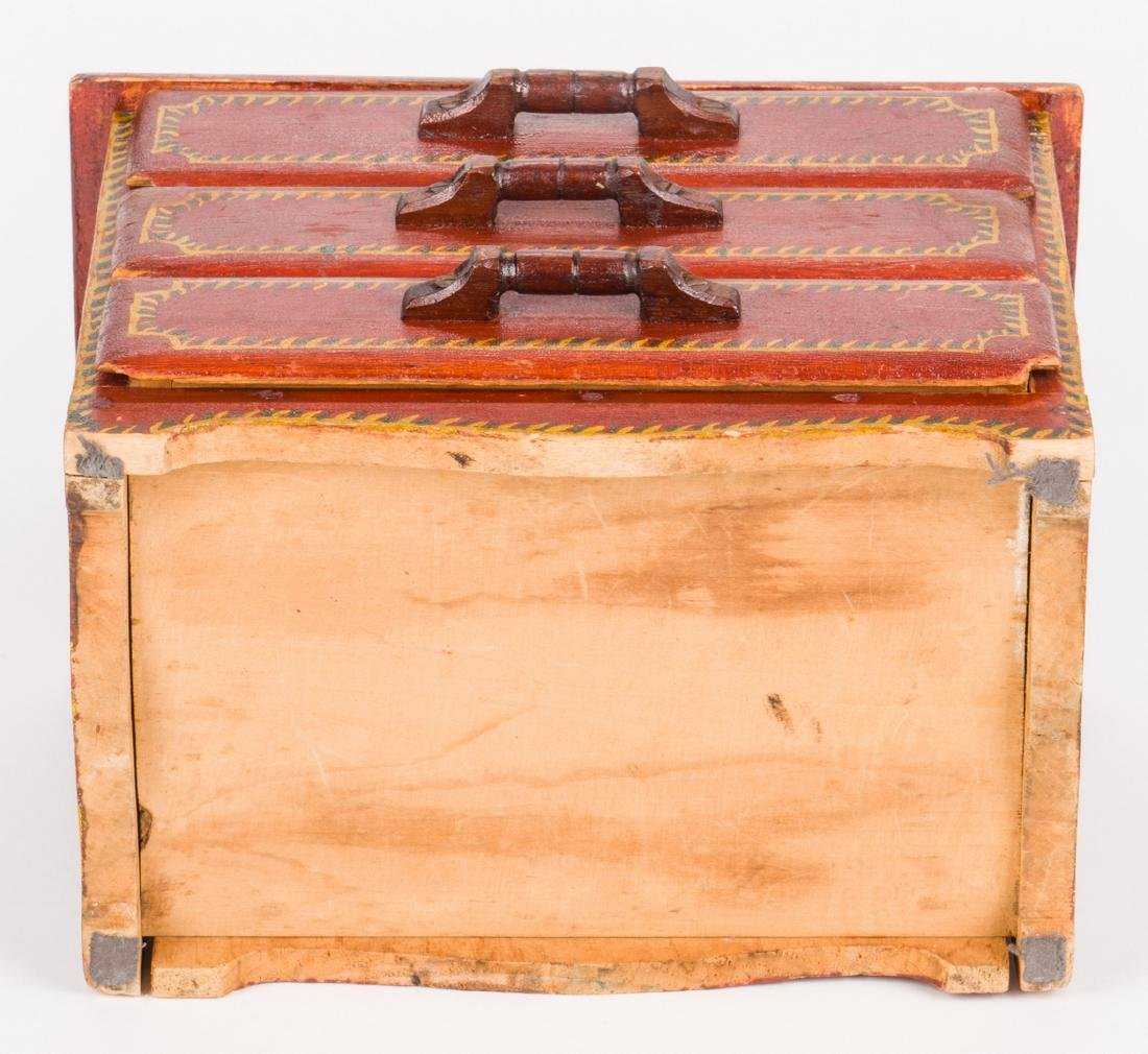 Attr. Soap Hollow Miniature Chest, Signed - 10