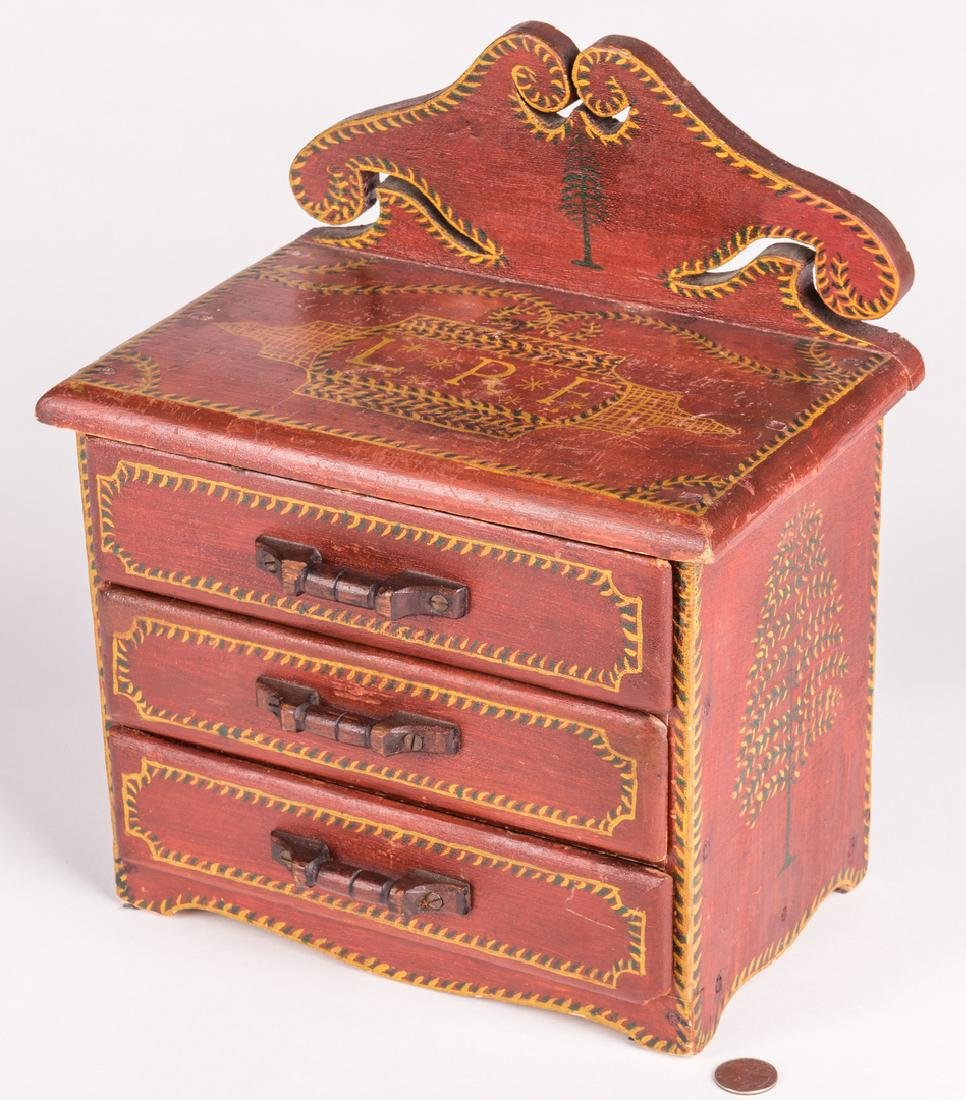 Attr. Soap Hollow Miniature Chest, Signed