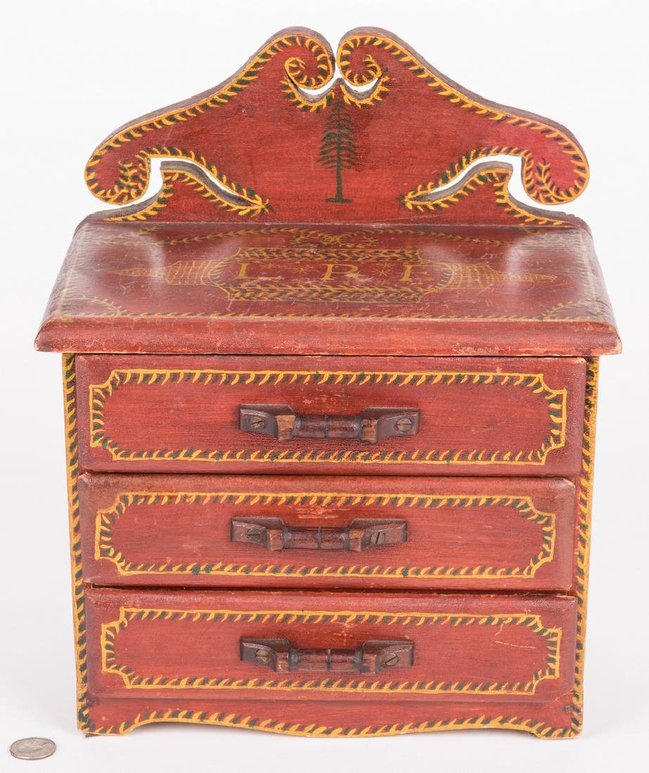 Attr. Soap Hollow Miniature Chest, Signed - 2