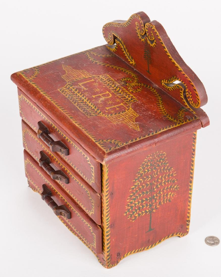 Attr. Soap Hollow Miniature Chest, Signed - 3