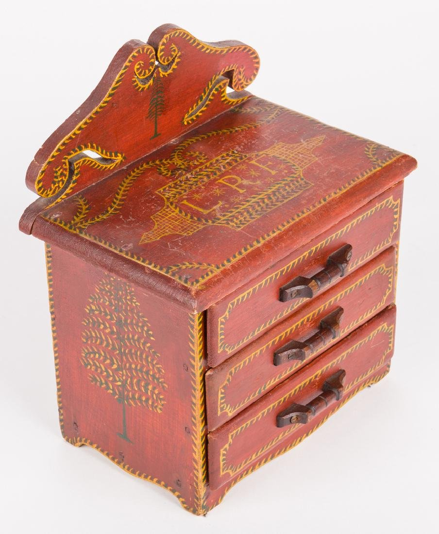 Attr. Soap Hollow Miniature Chest, Signed - 4