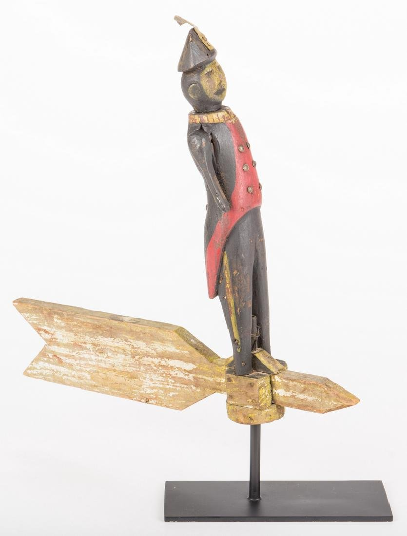 Folk Art Soldier Whirligig - 5
