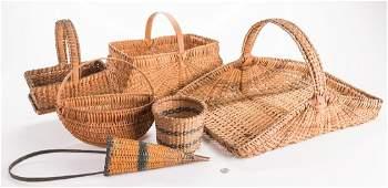 6 Southern Split Oak Baskets