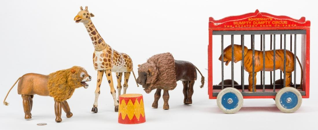 6 Schoenhut Circus & Safari Items