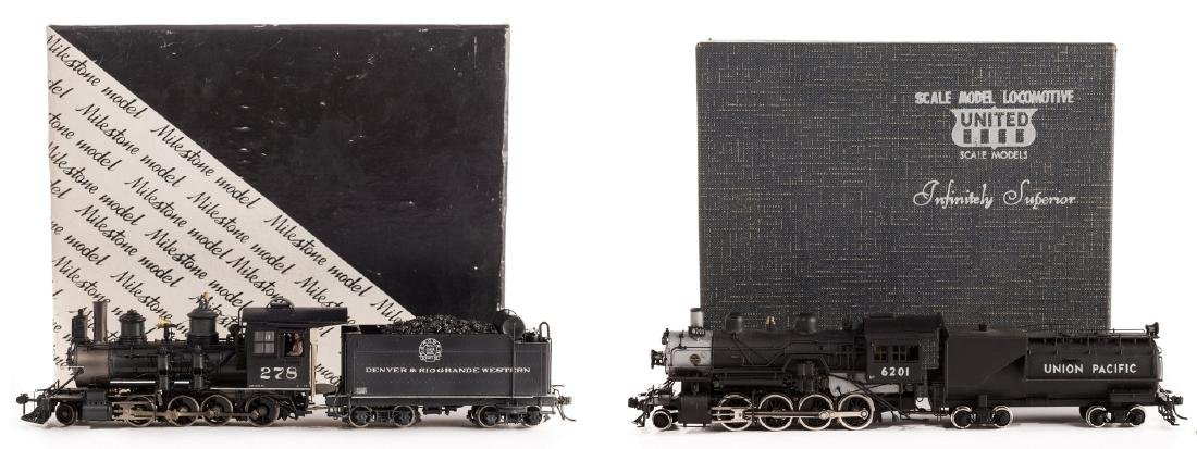 2 Boxed Brass Model Trains