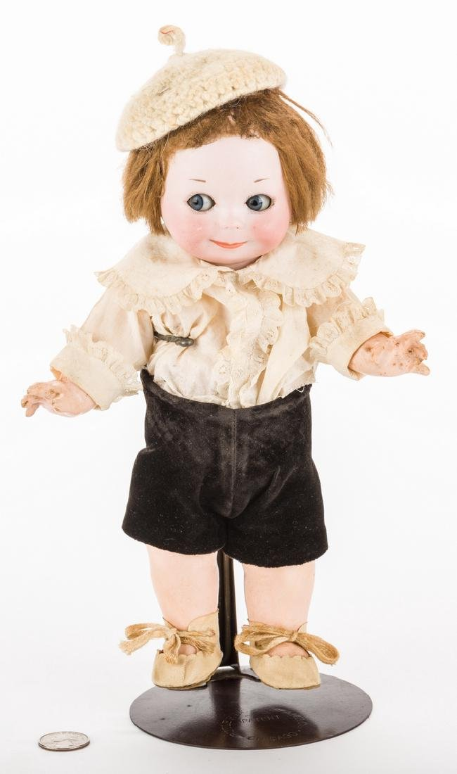 Nobby Kid Googly Bisque Doll