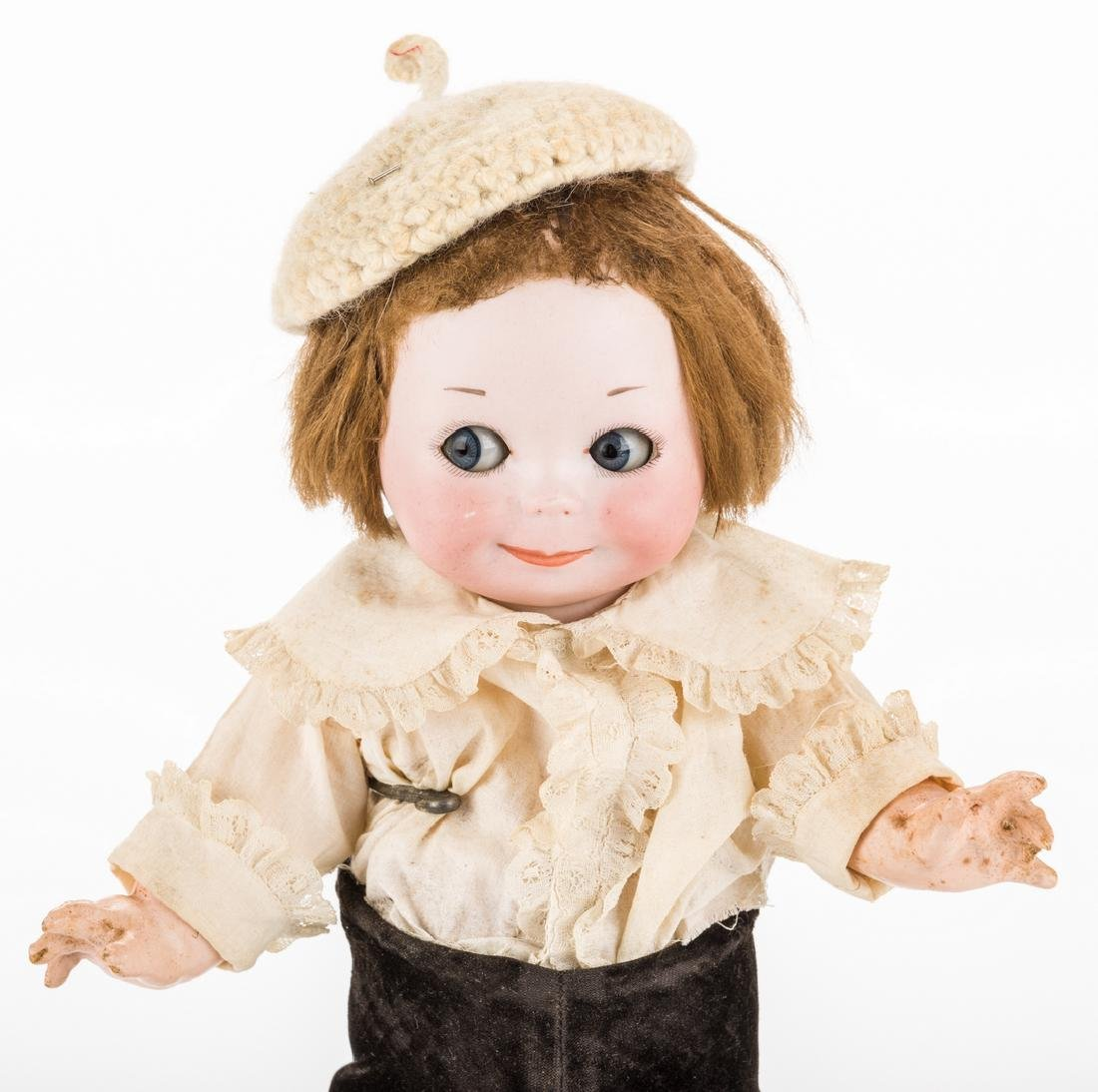 Nobby Kid Googly Bisque Doll - 2