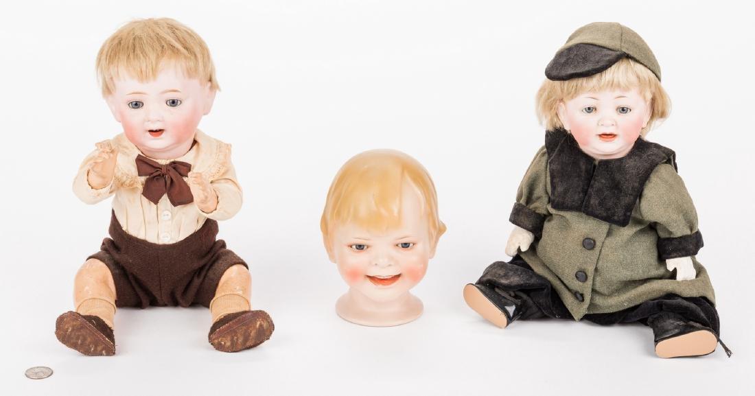3 Male Bisque Dolls