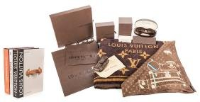 4 Designor Louis Vuitton Items & 3 Related Books