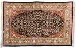 Finely Woven Persian Silk Rug