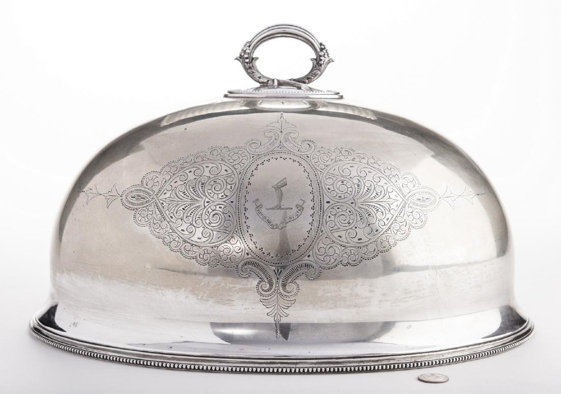 Victorian Silverplate Meat Dome