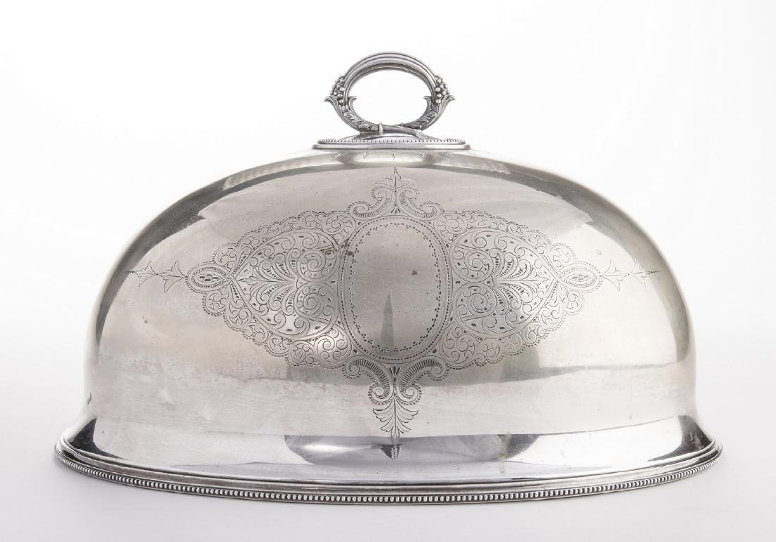 Victorian Silverplate Meat Dome - 4