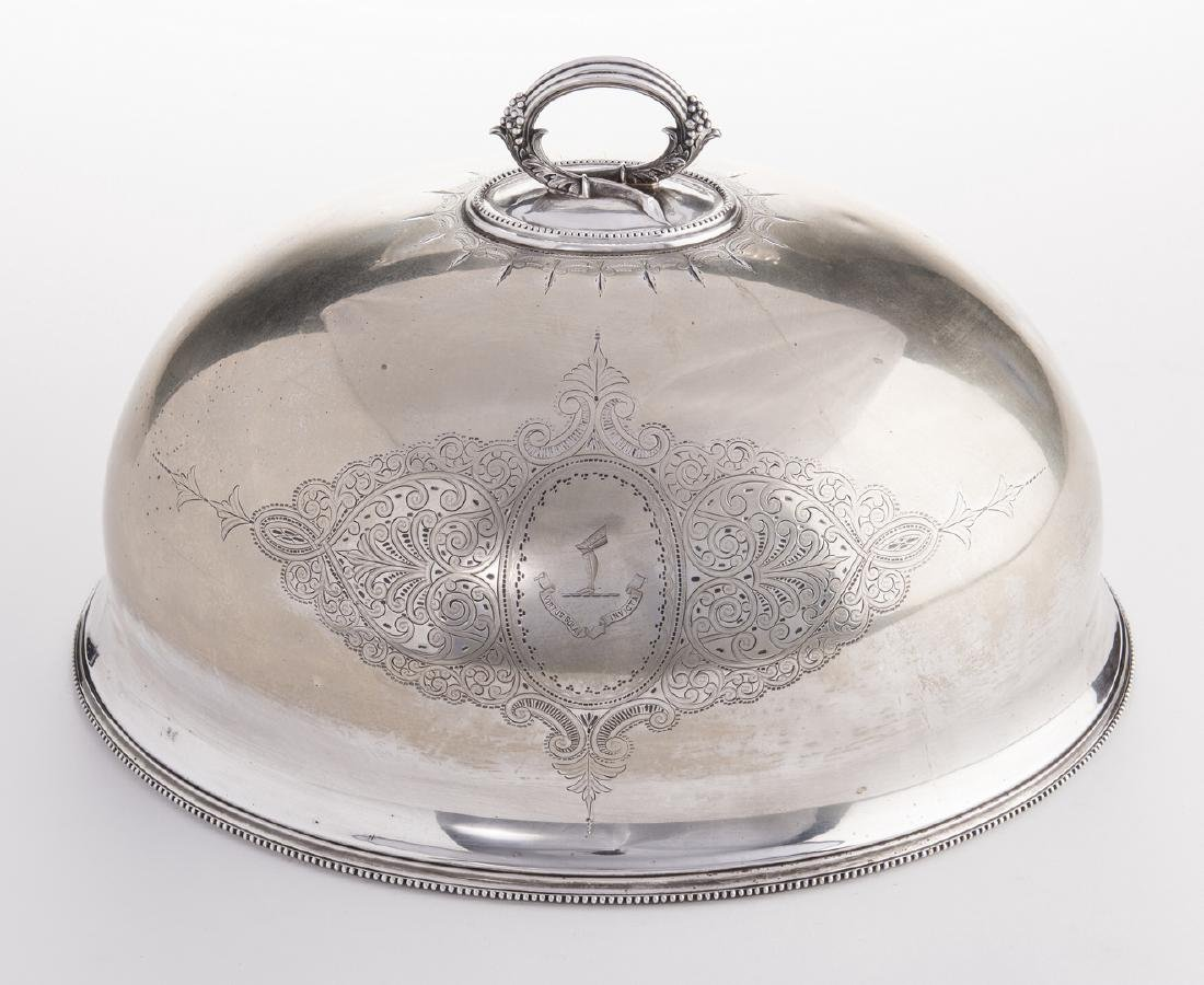Victorian Silverplate Meat Dome - 9