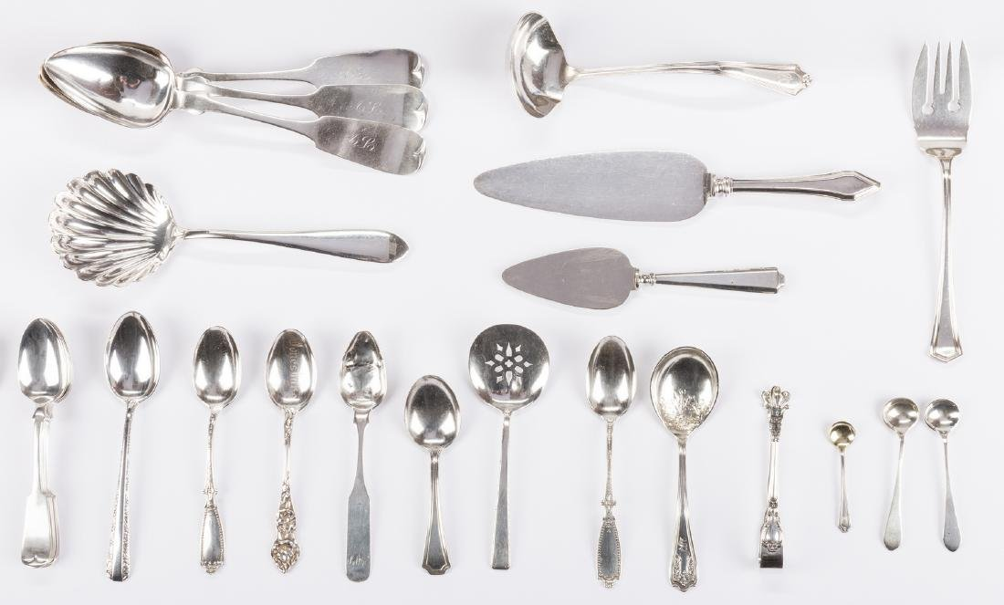 Group Sterling & Coin Silver Flatware, 38 pcs - 3