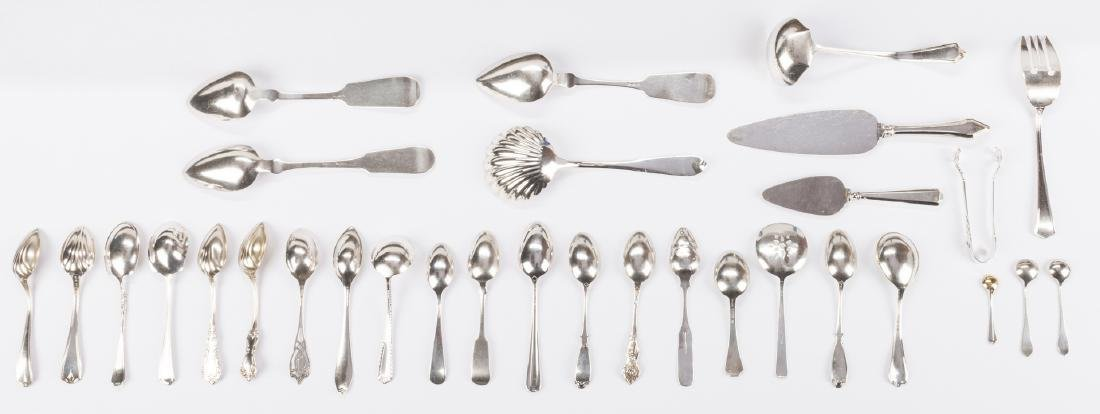 Group Sterling & Coin Silver Flatware, 38 pcs - 4