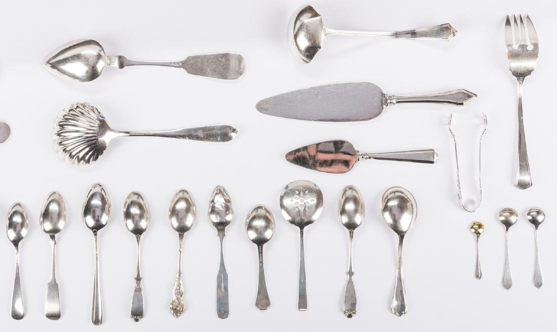 Group Sterling & Coin Silver Flatware, 38 pcs - 5