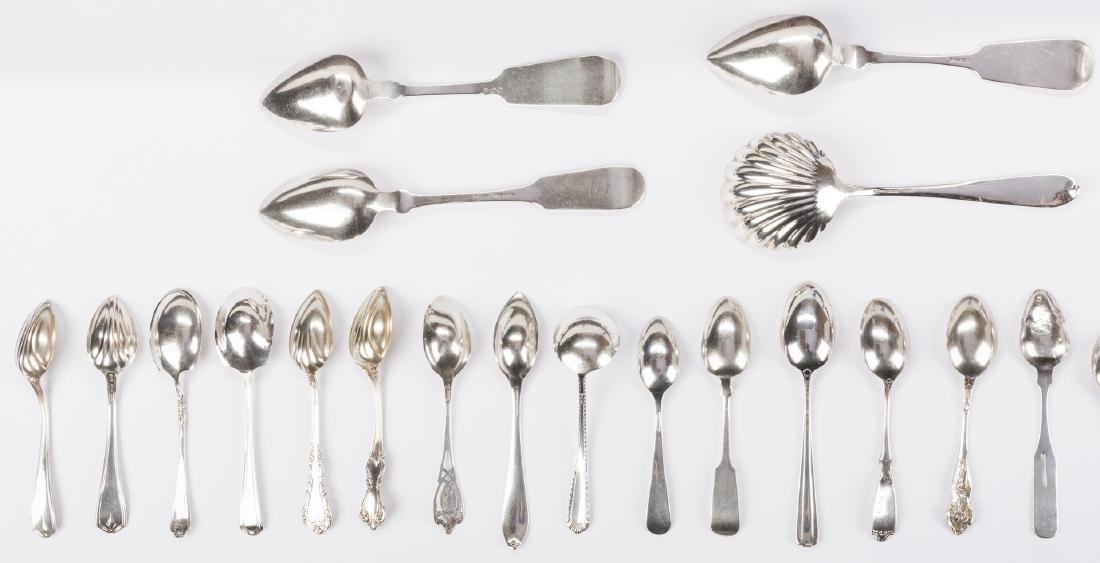 Group Sterling & Coin Silver Flatware, 38 pcs - 6