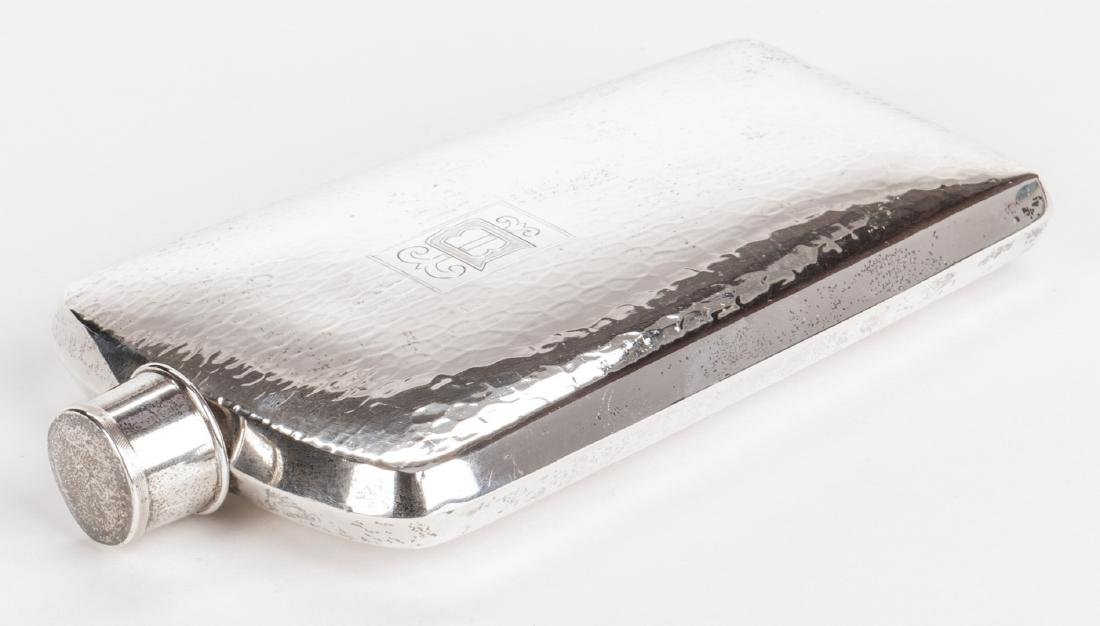 Sterling Flask and Bread Tray - 2 pcs - 3