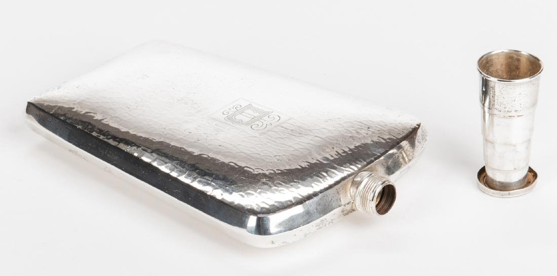 Sterling Flask and Bread Tray - 2 pcs - 4