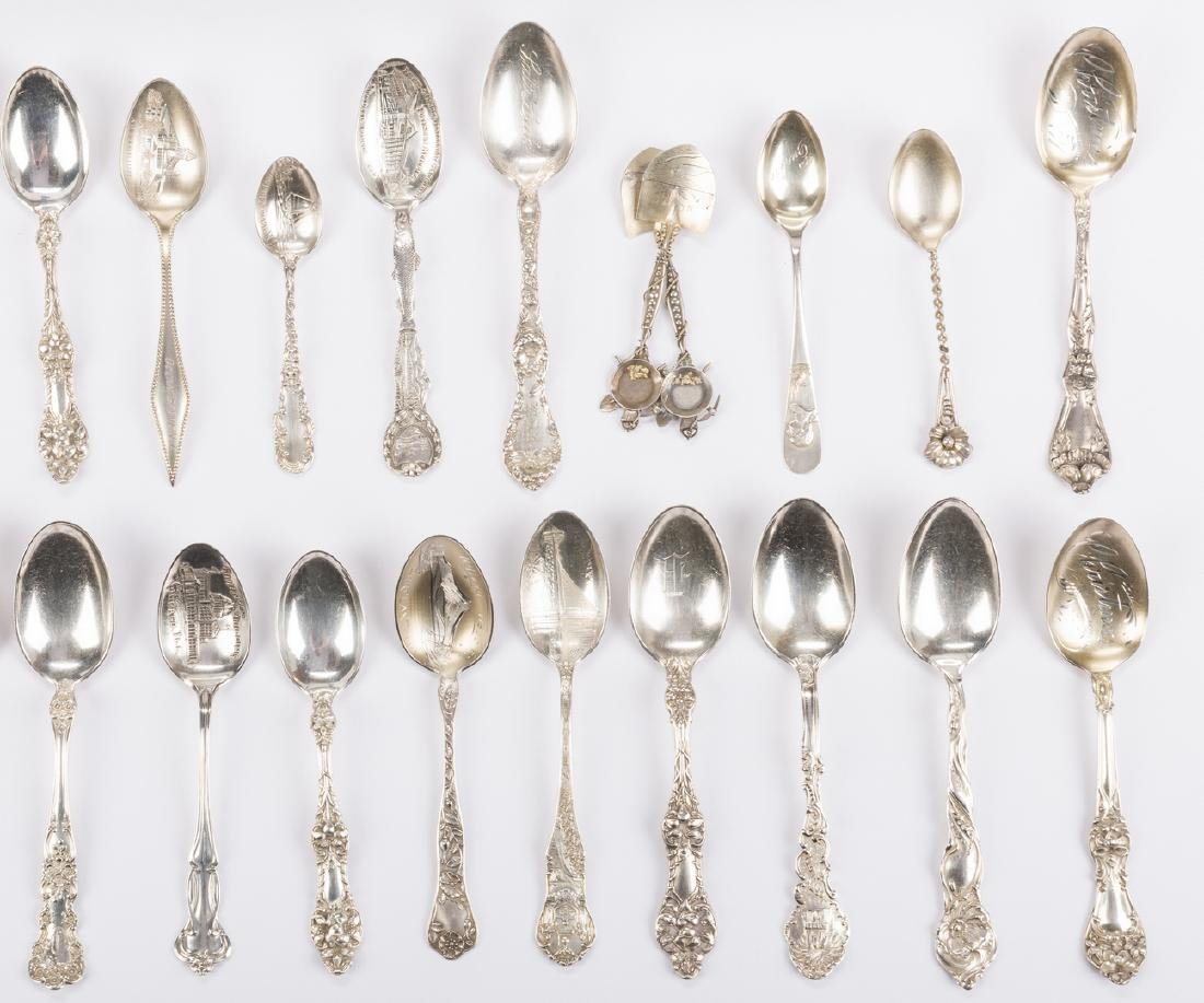 Vintage Sterling Souvenir Spoons plus more, 37 pcs - 2