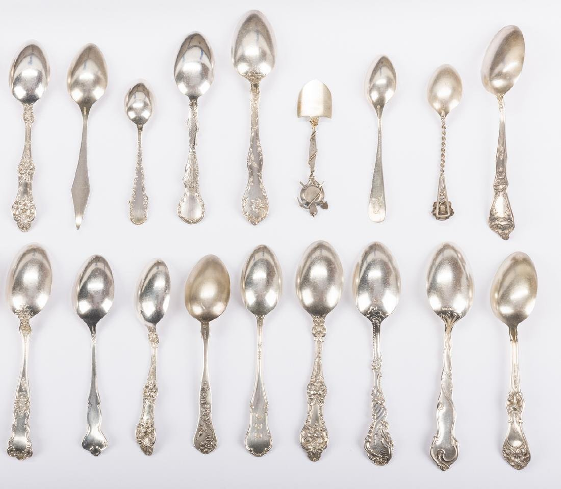 Vintage Sterling Souvenir Spoons plus more, 37 pcs - 5