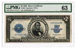 1923 US 5 Porthole Silver Certificate