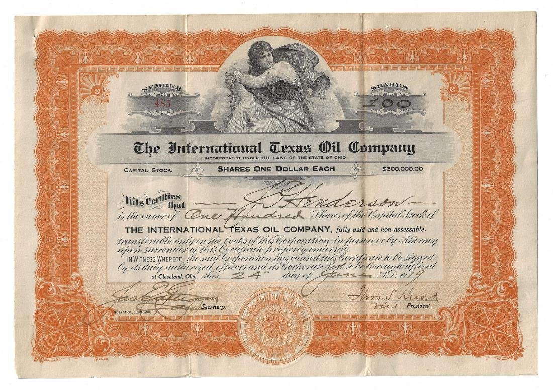14 Stock Certificates inc. Duesenberg, 18 items - 12