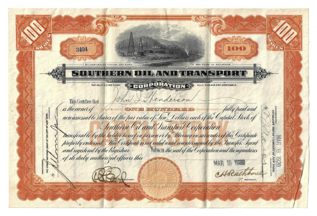 14 Stock Certificates inc. Duesenberg, 18 items - 16